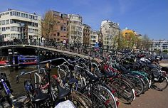 Bikes parking in Amsterdam