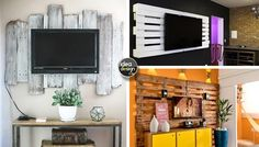 DIY Cool TV stand with pallets! Here are 15 inspiring ideas… DIY Cool TV stand with pallets. Have a look at these TV stands made with pallets. A cheap and stylish way to furnish home. We will never finish repeating,make sure, before you start a DIY...
