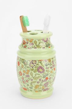 Plum & Bow Floral Toothbrush Holder