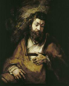 Rembrandt, The Apostle Simon, 1661. Oil on canvas, 98.3 x 79 cm. Kunsthaus Zürich, Ruzicka-Stiftung