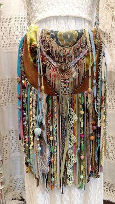Handmade Brown Suede Leather Fringe Bag Ibiza Hippie Festival Boho Purse tmyers #Handmade #ShoulderBag
