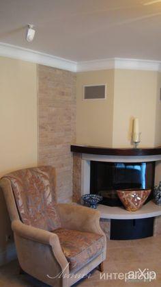 угловой камин: интерьер, квартира, дом, эклектика, комната отдыха, зона отдыха, 30 - 50 м2 #interiordesign #apartment #house #eclectic #lounge #sittingarea #30_50m2 arXip.com