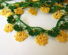 Crochet flower chains