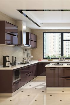 Lacquer kitchen cabinet is a great option for those who want to achieve a nice and elegant finish with moderate durability. Best Kitchen Cabinets, Kitchen Cabinet Design, Kitchen Designs, Kitchen Cabinet Manufacturers, Cool Kitchens, China, Popular, Elegant, Nice