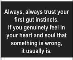 Always trust your gut instinct - Love of Life Quotes Life Quotes Love, Great Quotes, Quotes To Live By, Me Quotes, Motivational Quotes, Inspirational Quotes, Positive Quotes, Trust No One Quotes, Jokes Quotes