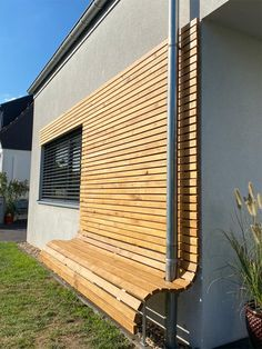 Eiche Rhombus Fassade Design Jardin, Garden Design, Wood Construction, Cubes, Bungalow, Blinds, Architecture Design, Pergola, Sweet Home
