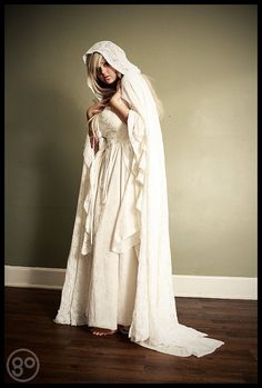 Gwendolyn Medieval Velvet and Lace Wedding Gown by RomanticThreads, $625.00