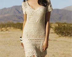 Crochet designer dress PATTERN detailed por CONCEPTcreative en Etsy