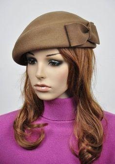 Chapéu bege lã