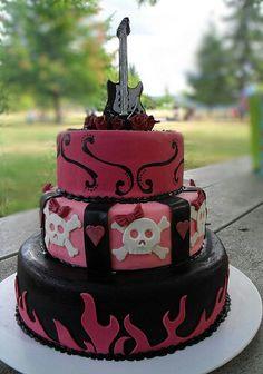 Rock n Roll girly cake