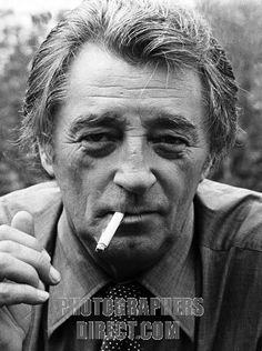 Robert Mitchum Academy Award nominated American film actor , author , composer and singer . On set for The Big Sleep in 1977 . 6 August 1917...