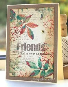 Jacqueline's Craft Nest: Friends are special treasures