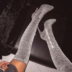This article contain info on thigh high boots. What is thigh high boots, and what statement do they tell. Who wears thigh high boots. Thigh High Boots, High Heel Boots, Heeled Boots, Shoe Boots, Knee High Heels, Bootie Boots, Grey Shoes Heels, Over The Knee Boots, Dream Shoes