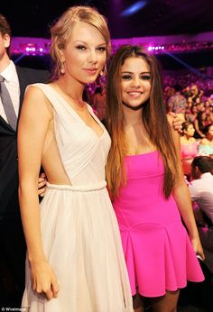 Such good friends: Selena Gomez and Taylor Swift linked arms as they attended the 2012 Teen Choice Awards on July 22