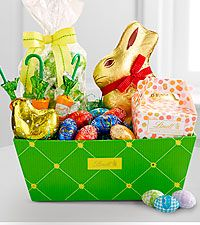 Lindt easter egg flowers plants and gift baskets pinterest lindt easter cheer basket negle