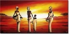Resultado de imagen para africanas cuadros relieve