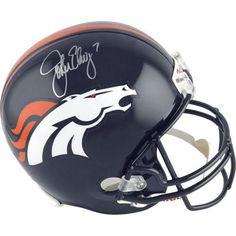 John Elway Signed Denver Broncos Current Mini Helmet