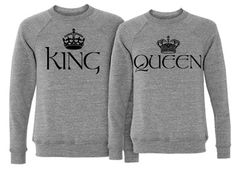 King Crew: Custom Unisex Canvas Triblend Crewneck Sweatshirt - Customized Girl