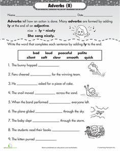 Worksheets: ly Adverbs
