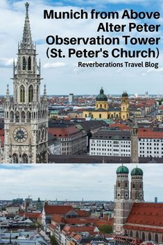 For the best view in Munich head to St. The tower of the city's oldest church offers stunning views all the way to the Alps. Travel Tips Tips Travel Guide Hacks packing tour Europe Destinations, Places In Europe, Europe Travel Guide, Travel Guides, Travel Packing, Amazing Destinations, Holiday Destinations, Budget Travel, Frankfurt