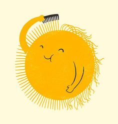 Bad Hair Day by Lim Heng Swee: Giclée print. - I never look that happy on a bad hair day Bad Hair Day, Humor Grafico, Good Morning Quotes, Good Day Quotes, Sunny Day Quotes, Goog Morning, Happy Morning, Good Morning Friends, Tuesday Morning