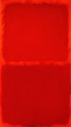A Houston original. Red | Rothko. You can really see the years of practice in the application of the dark red paint on the lighter red paint...just kidding - anyone with some paint and 10 mins could make this.