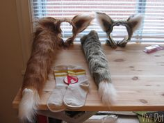 Tutorial for Fantastic Mr. Fox fox tails and ears