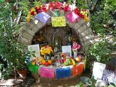 Family members will often construct altars to honor their ancestors or recently deceased relatives. They decorate them with sugar skulls, marigolds, candles, incense and the favorite foods and drinks of their family members to make it personal to them. Photos of the deceased are often placed on altars. They also visit graves and put gifts on them. They put up such decorations because they think it makes it better for when the souls to come back to earth.  That way they will be able to hear t...