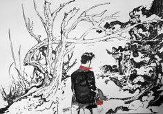 Illustrazione realizzata da Paolo Martinello in occasione della Notte Nera a Crime City Comics - Dylan Dog 2015