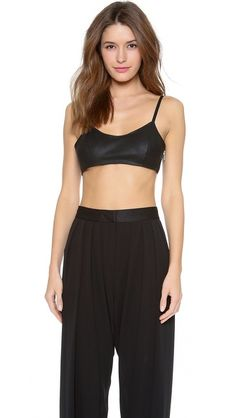 BB Dakota Dakota Collective Cadence Leather Crop Top