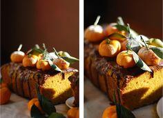 Тыквенно-мандариновый хлеб с шоколадной помадкой из сливочного сыра