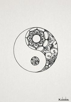 Trendy tattoo mandala meaning yin yang ideas Mandala Tattoo Design, Tattoos Mandala, Feather Tattoos, Tattoo Bird, Simple Mandala Tattoo, Arm Tattoo, Yin Yang Tattoos, Trendy Tattoos, New Tattoos