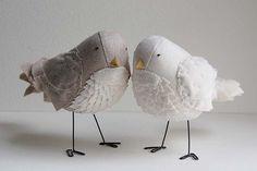 fabric birds, handmade