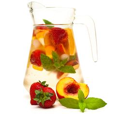 Strawberry Mojito Sangria.sounds so yummy.