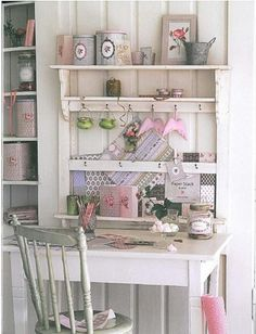 shabby chic work space