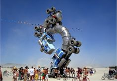 The annual Burning Man festival in the Nevada desert draws people who come to learn, to experience, to grow, to find answers — and even to find love. http://www.travelandescape.ca/2012/05/finding-love-in-the-nevada-desert/