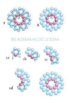 Free pattern for beautiful earrings Mermaid.  U can use pearl beads 2 – 4 mm  #Seed #Bead #Tutorials