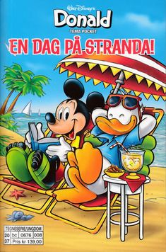 GCD :: Cover :: Donald Duck Tema pocket; Walt Disney's Tema pocket #[127] - En dag på stranda!