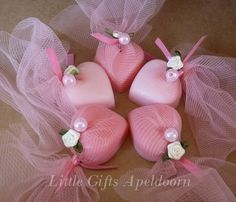 Soap packaging, perfect for wedding or party favors.