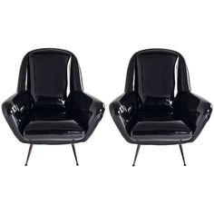 Mid Century Italian Lounge Chairs | From a unique collection of antique and modern lounge chairs at http://www.1stdibs.com/furniture/seating/lounge-chairs/