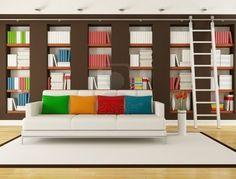 Ladder + storage wall