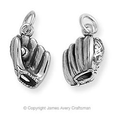 Baseball and Glove Charm from James Avery