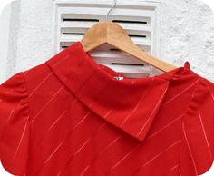 Vintage Stunning Red Dress 80s C by IsleOfTea on Etsy, £14.99