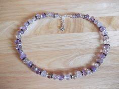 Amethyst nugget necklace
