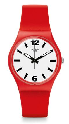 Swatch Red Pass Uhr GR162 Analog Kunststoff Rot