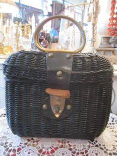 Pannier Basket 50 s USA Antique