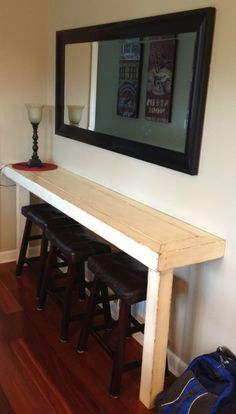 I came up with something similar to this.. Happy to have found a photo & plans for my idea.  Dad Built This: Farmhouse Snack Bar - Buffet