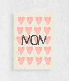 Kartka dzień Mamy   Mom - WeJustLikePrints - Kartki na Dzień Matki