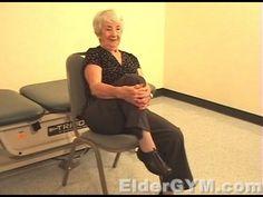 Flexibility Importance For Seniors And The Elderly; Knee to Chest - Eldergym® Senior Fitness