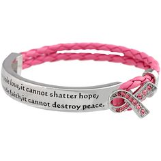 What Cancer Cannot Do Pink Ribbon Bracelet - Every Purchase Funds Mammograms for Women in Need.